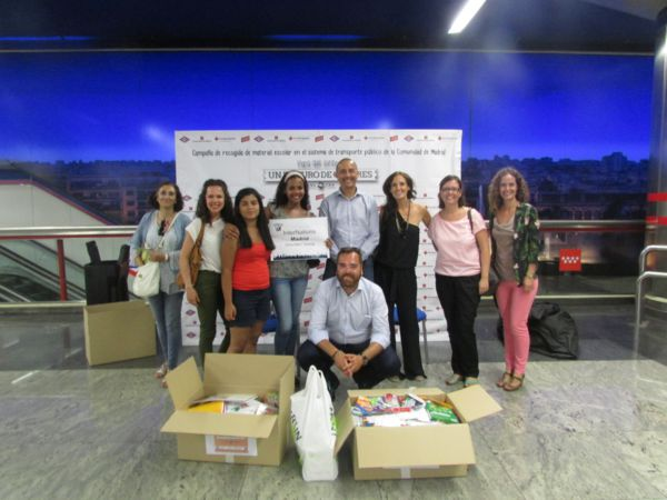8. Madrid - Collection of school materials for underprivileged children