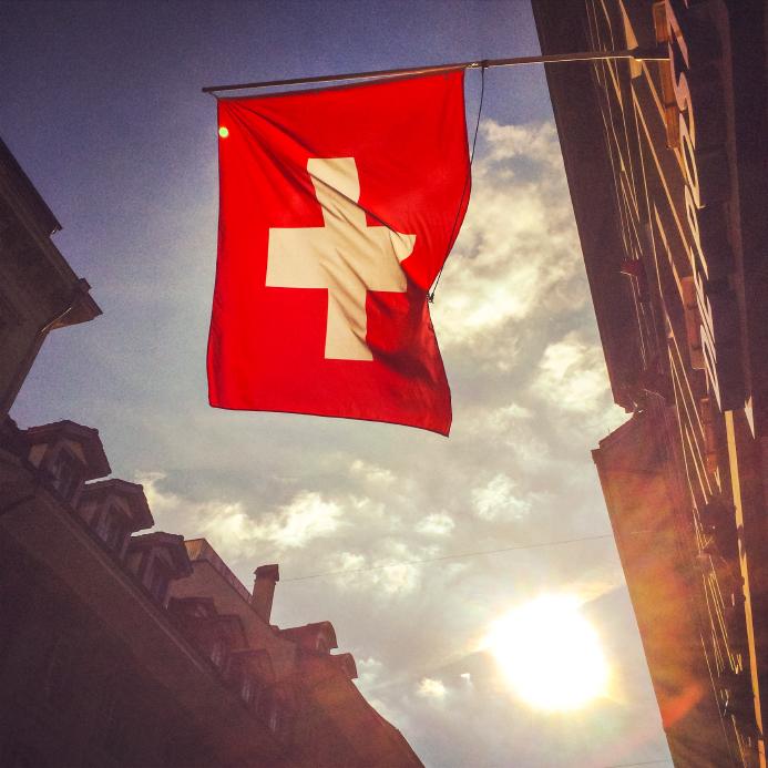 Swiss Flag on Berne Street
