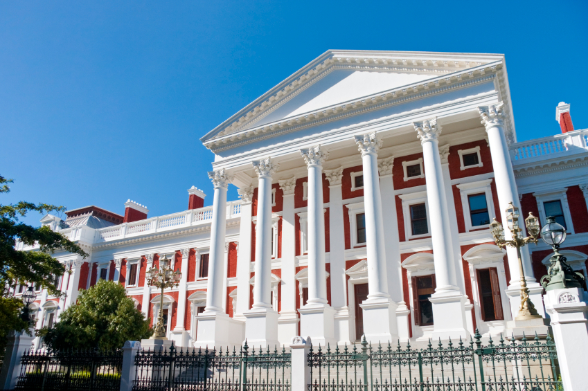 South African parliament buildings in Cape Town