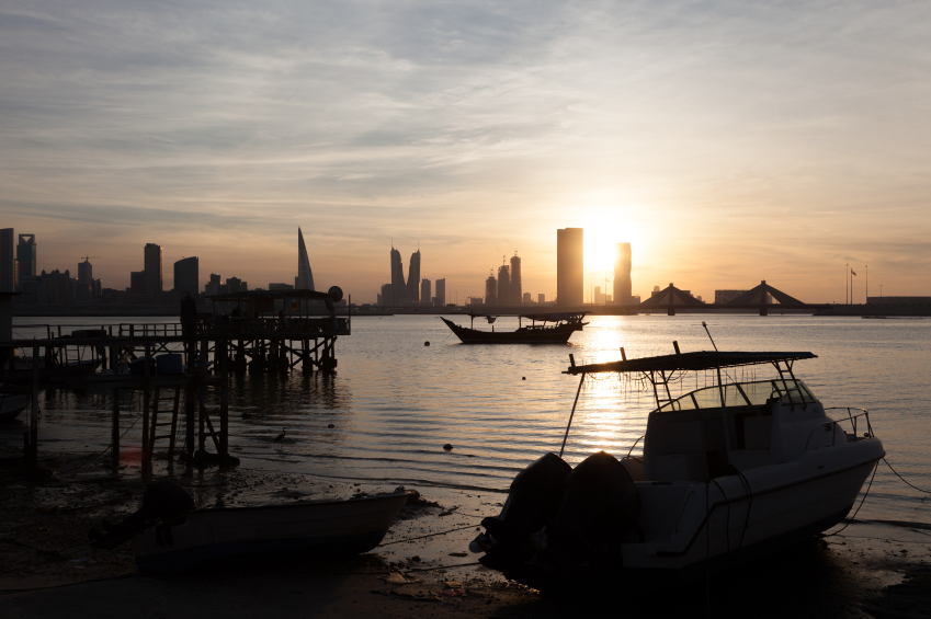 Fishing pier in Manama, Bahrain