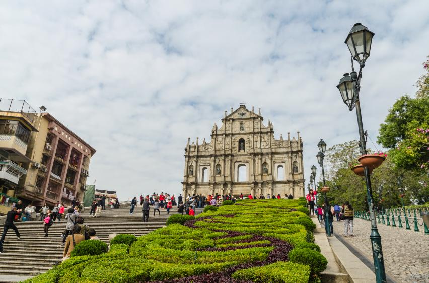 Macau, China - Jan 8, 2013: Ruins of st.paul's, One of macau's b