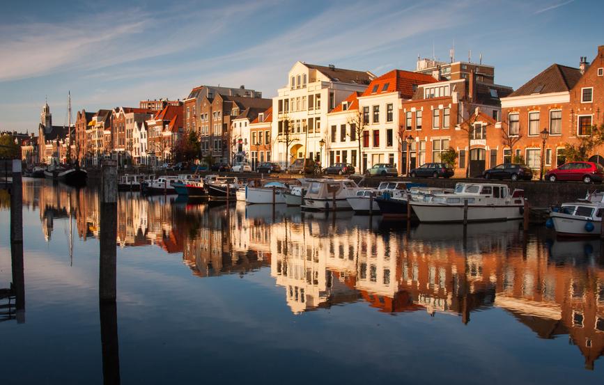 historical delfshaven in rotterdam
