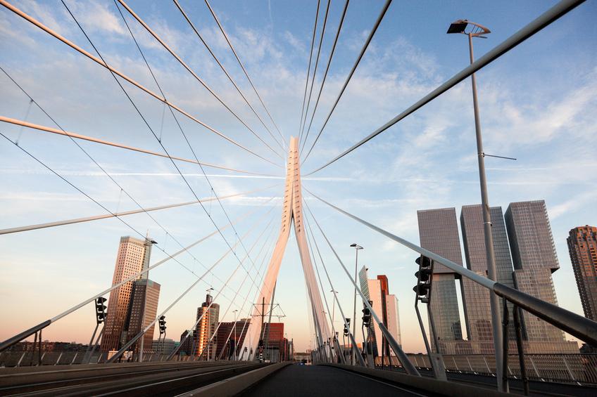 Driving on Erasmus Bridge