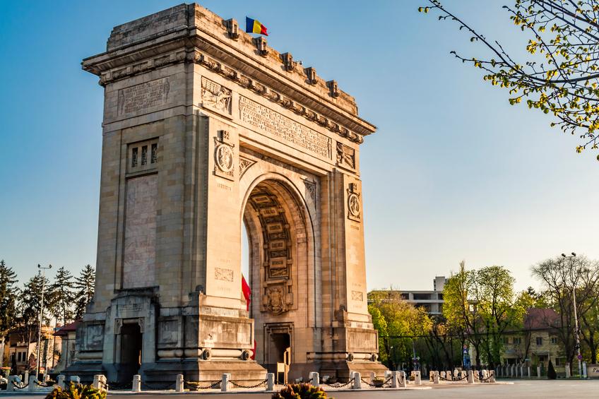 Arch of Triumph in Bucharest, Romania